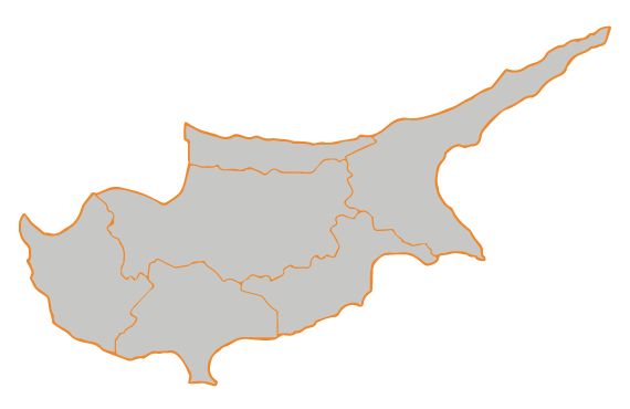 Perdios Fuels - Cyprus Map